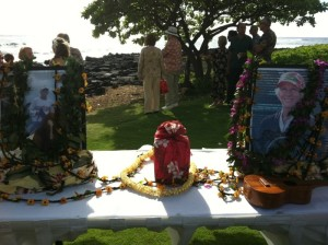 Beautiful Hawaiian Memorial Ceremony for Anne Sinclair Knudsen Bill Today