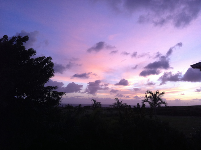 sunset from lanai on kauai photo by Linda Sherman