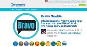 Wonder about the FourSquare Bravo Badge?
