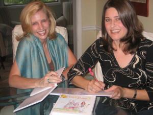 Kimberly Webb and Susan Johnston - Princess Bubble wearing Singelringen