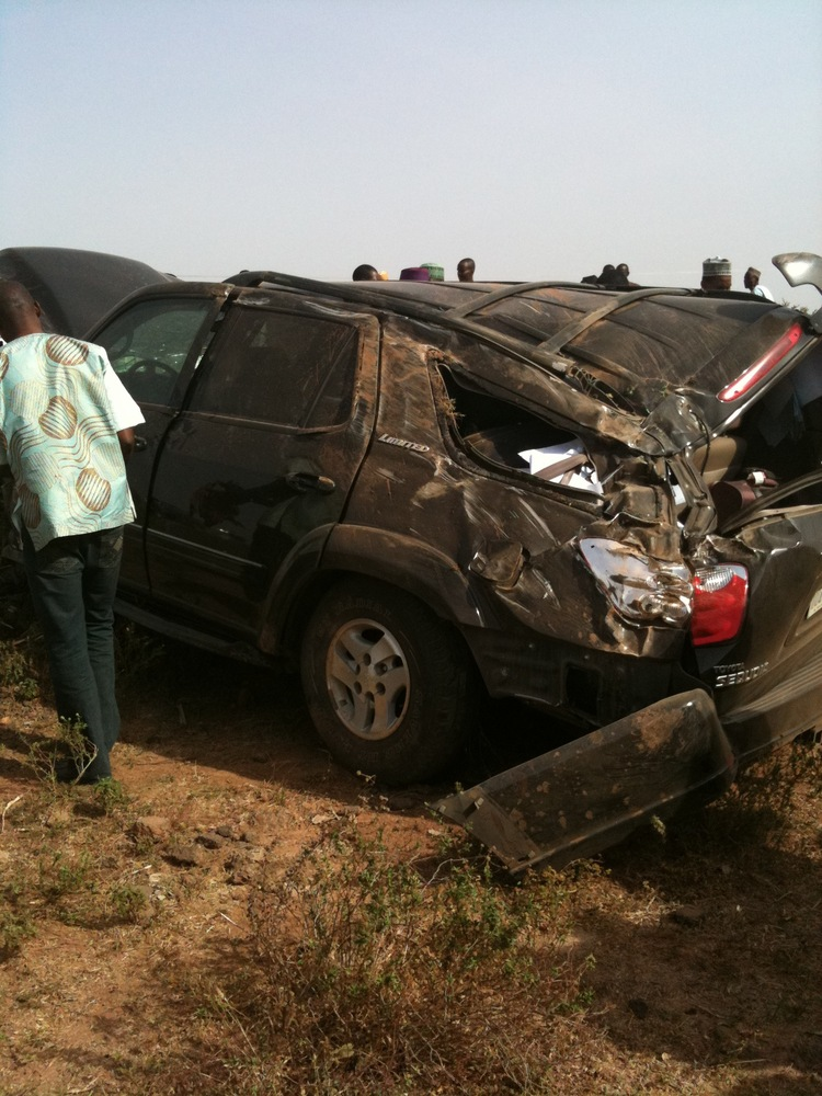 Toyota Sequoia Crushed in Accident 1282