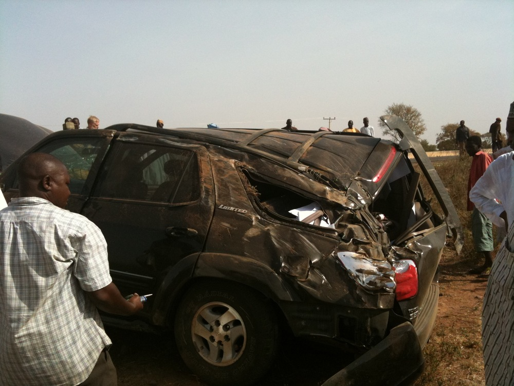 Toyota Sequoia Crushed in Accident 1283
