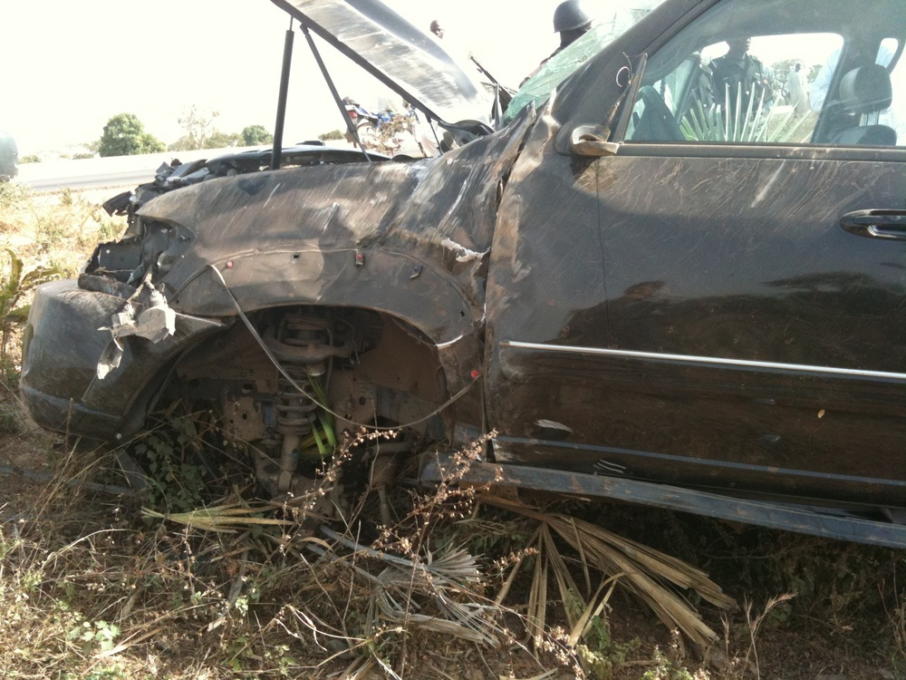 Toyota Sequoia Crushed in Accident 1284