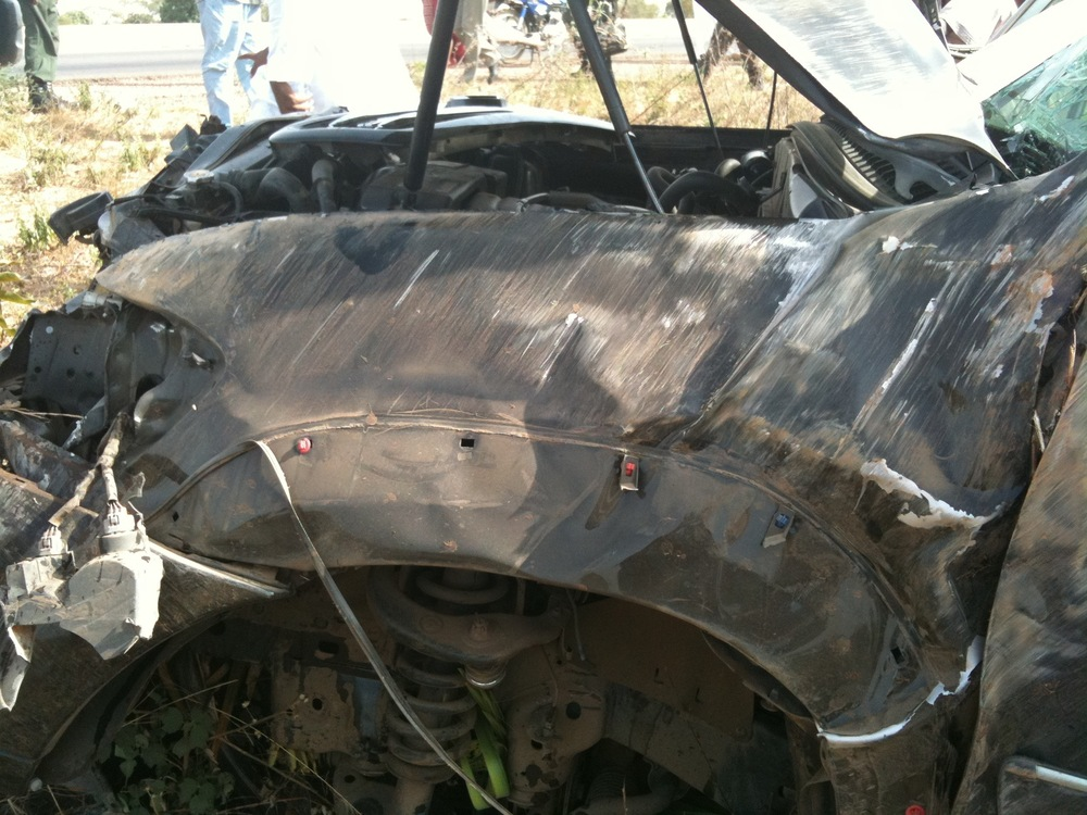 Toyota Sequoia Crushed in Accident 1285