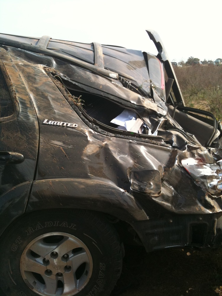 Toyota Sequoia Crushed in Accident 1286