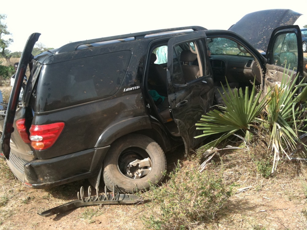 Toyota Sequoia Crushed in Accident 1287