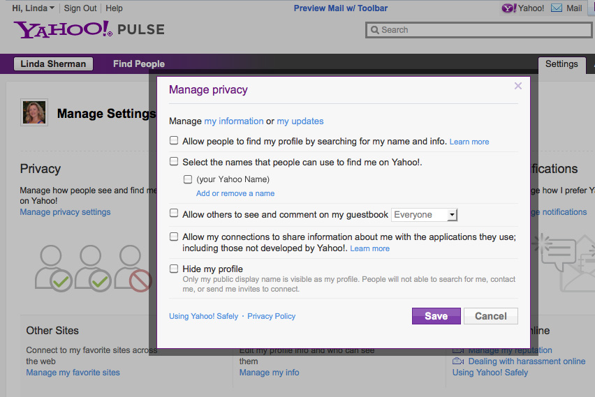 Manage-yahoo-privacy