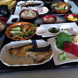 Love the miso black cod bento box lunch at Haru
