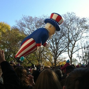 Uncle Sam Float During the Macy's Thanksgiving Day Parade NYC