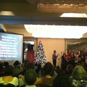 Christmas carols sing along Calvery Church Puna Ballroom