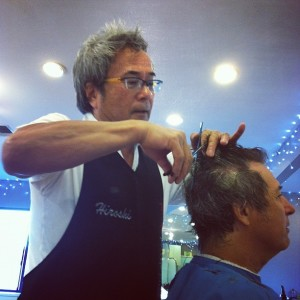 Masterful Hiroshi Cutting Ray Gordon's Hair