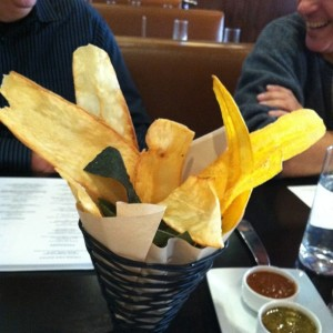 Complimentary Yucca, Plantain and Blue Corn Chips