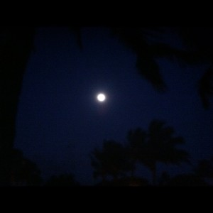 Full moon. Just after OC6 paddling practice