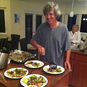 Ray Gordon Cooking Dinner for Friends