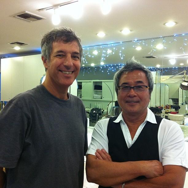Ray Gordon with Hiroshi Kitamura at Hiroshi Beverly Hills Hair Salon