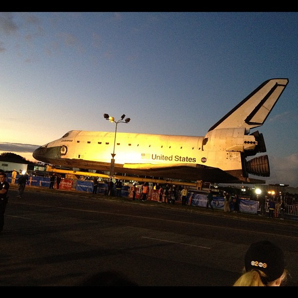 Space Shuttle Endeavor on the Streets of LA