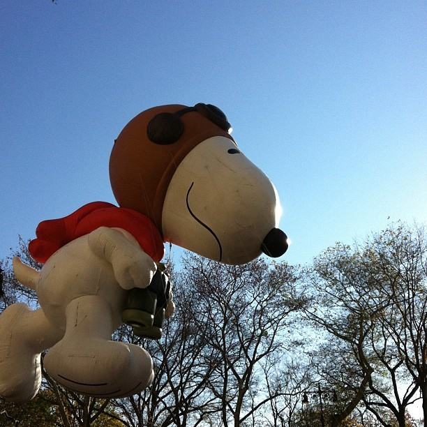 Snoopy float in the Thanksgiving Day Parade at w 74th street