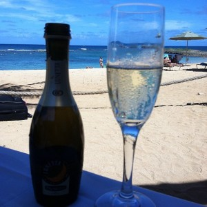 Prosecco comes with Split Bottle at Ola on the Beach
