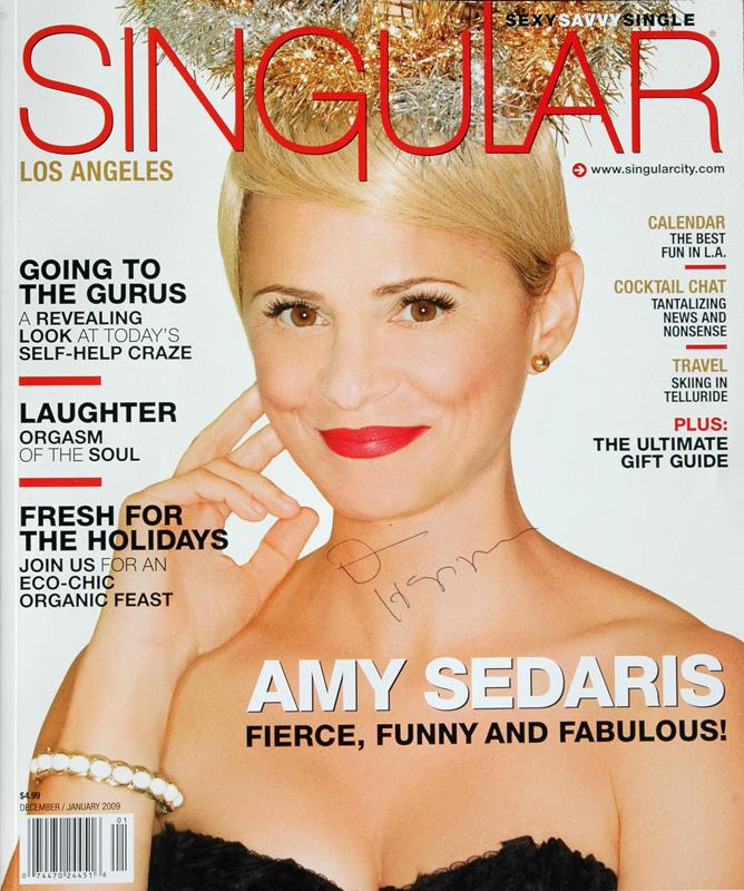 Dennis Hopper Signature on Singular Magazine