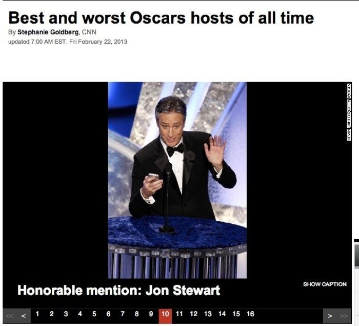 Jon Stewart Oscar Host