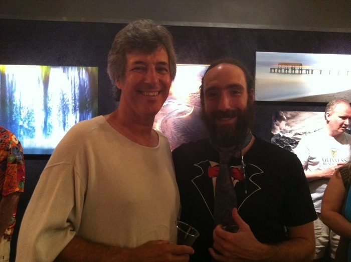 Ray Gordon, photographer, with Aaron Feinberg, photographer and gallery owner