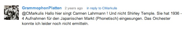 German comment about Shirley Temple recording