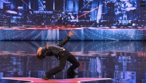 Kenichi Ebina demonstrates gymnastic strength during his first appearance on America's Got Talent