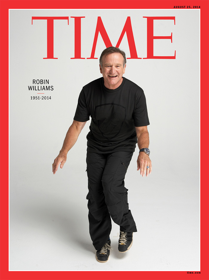 Time Cover Robin Williams by Nigel Parry NYC 2007