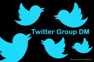 Twitter Group DM illustration by Ray Gordon