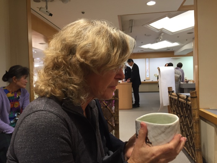 Drinking Tea in Tea Ceremony at Richard Milgrim Tea Ceramics Event