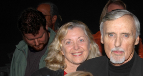 Linda Sherman with Dennis Hopper