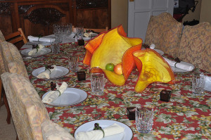 Table set for Thanksgiving photo by Linda Sherman