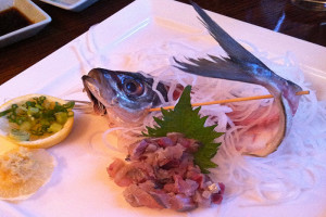 aji tataki and good Japanese food in lower Manhattan photo by Linda Sherman
