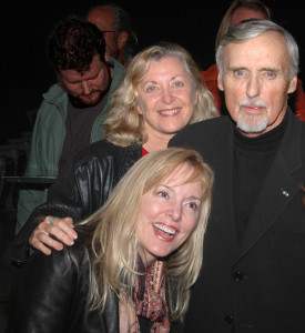 Dennis Hopper with Linda Sherman and Kim Calvert 2009